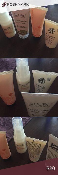 Facial cleansers Peter lamas, naobay, Briogeo and acure facial cleansers Makeup