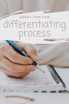 Click to read a ton of ways you can be differentiating process in your classroom! Special Education Teacher, Teacher Resources, Student Agenda, Behavior Goals, Lifecycle Of A Frog, Literature Circles, Learning Tools, Differentiation, Graphic Organizers