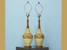 FAIP 1950s Vintage Table Lamps Pair mid century Modern by imodern, $235.00