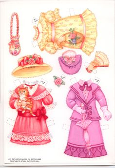 For a Special Girl a fun paperdoll to dress #2