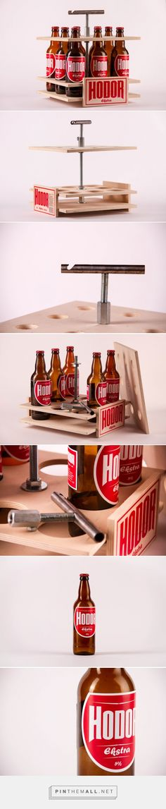 Hodor Craft #Beer #Concept by Karolis Stalnionis - http://www.packagingoftheworld.com/2015/01/hodor-craft-beer-student-project.html