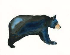 BEAR by DIMDI Original watercolor painting the animals that you wantxxxx Bear Watercolor, Watercolor Art Diy, Watercolor Paintings, Illustrations, Illustration Sketches, Art Sketches, Animal Outline, Winsor And Newton Watercolor, Different Art Styles