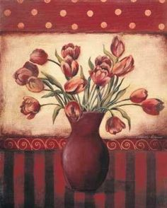 Cuadro Red Tulips