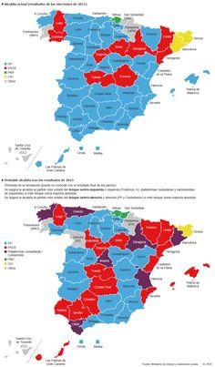 Posibles ayuntamientos en las capitales de provincia tras los pactos