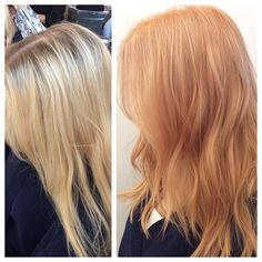@markcolorist was inspired by the changing seasons when he gave his client this apricot blonde. Cut and style by @abigail_leigh