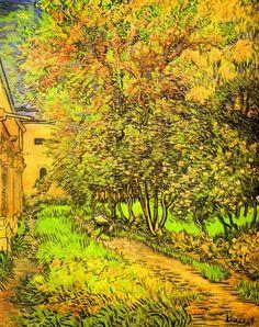 Vincent van Gogh - The Garden of the Clinic of Saint-Rémy