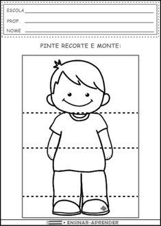 Head Shoulders Knees and Toes - Boy Senses Activities, Activities For Kids, Body Preschool, Learn Portuguese, Art Terms, Classroom Crafts, Head & Shoulders, Preschool Worksheets, Small Groups