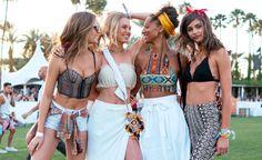 Victoria's Secret-Ausflug: DieModels Josephine Skriver, Romee Strijd, Jasmine Tookes undTaylor Marie Hill auf dem Coachella Festival.