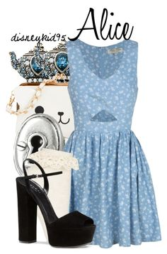 """Alice"" by disneykid95 ❤ liked on Polyvore featuring KLING, FOSSIL, Topshop and Gucci"