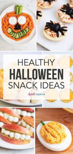These healthy Halloween snack ideas are cute and easy non-candy options that both kids and adults will love!