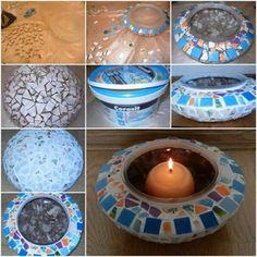 DIY PROJECT 2015: make Mosaic Candle Holder