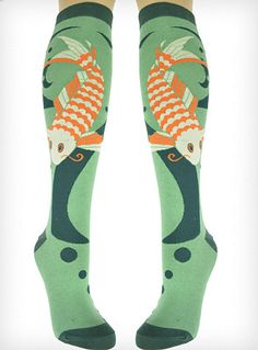 Don't Be Koi With Me Knee Socks from PLASTICLAND