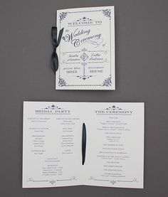 Ornate Vintage Type Wedding Program Booklet | Download
