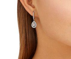 LOVE. Attract Light Pear Pierced Earrings from #Swarovski