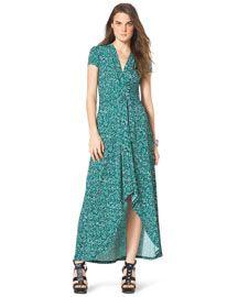 MICHAEL Michael Kors MICHAEL Michael Kors  Printed High-Low Maxi Dress
