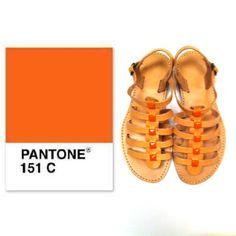 Sandalaki,handmade leather sandals #orange_studs Facebook @Sandal Aki Instagram #sandalaki