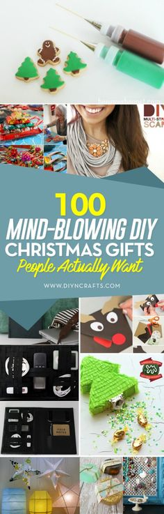 100 Mind-Blowing DIY Christmas Gifts People Actually Want via @vanessacrafting