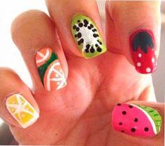 Innovación! Uñas con dibujos de frutas - NailArt