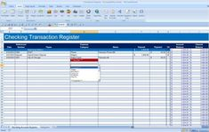 Expense Category Drop Down Box Printable Check Register, Printable Checks, Checkbook Register, Checking Account, Drop, Activities, Tips, Hacks, Counseling