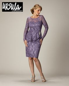 86a3cb06434 Ursula 11292 Stretch Lace Mother of the Bride Dress - French Novelty Mother  Of The Groom