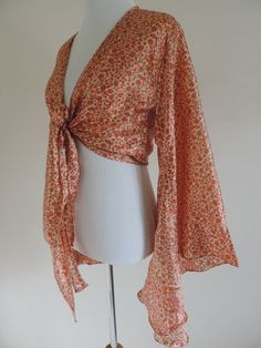 Jedzebel Top Shirt Blouse Silk Wrap Style S Small New #Jedzebel #WrapBlouse