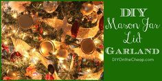 mason jar lid christmas garland, crafts, mason jars