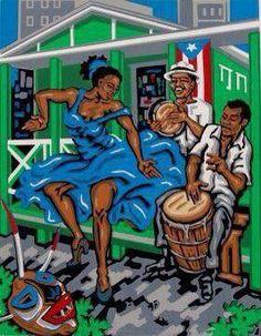 Cuban poster in Stgo. Latina, Cuban Salsa, Puerto Rican Culture, Cuban Culture, Latino Art, Dancing Drawings, Cuban Art, Dance Paintings, Caribbean Art