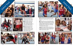 Yearbook spreads | Yearbook Layout Template: 45 Degree Rotated TitleRockin' Photogs