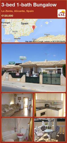 Bungalow for Sale in La Zenia, Alicante, Spain with 3 bedrooms, 1 bathroom - A Spanish Life Bus Route, Bungalows For Sale, Alicante Spain, Family Bathroom, Side Door, Boarders, Double Bedroom, Ground Floor, Dining Area