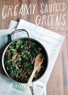 creamy sauteed greens (vegan)