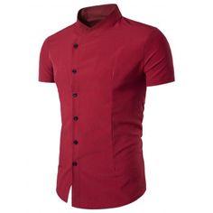 b31bec543cc 2018 Solid Men Polka Dot Long Sleeve Shirts Casual Men s Clothing ...