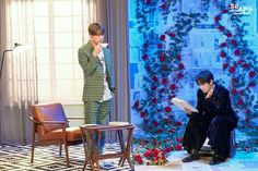 Jin hyung with his Little brother Taetae in BTS Festa 2019 photoshoot. Jimin, Jhope, Vlive Bts, V Taehyung, Bts Bangtan Boy, Seokjin, Namjoon, Foto Bts, Boy Scouts