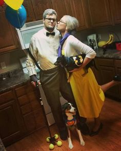 Couples Halloween costume. Unique couple costume. Cute costume. Funny couple costume. PIXAR up costume. Ellie and carl from up. Old couple.