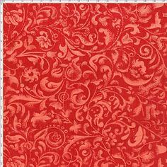 Tecido Estampado para Patchwork - Arabesco Coral 3 Médio T00403 (0,50x1,40) 100% Algodão  Fabricante:  Fabricart