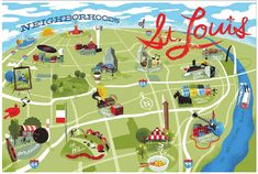 Image courtesy of Explore St. Louis and the St. Louis Convention & Visitors Commission, which are in no way affiliated with this guide. We just love their map.