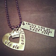 Mommy's First Love Big Sister Necklace: Perfect For a Big Sister Expecting New Additions To The Family. $25.00, via Etsy.