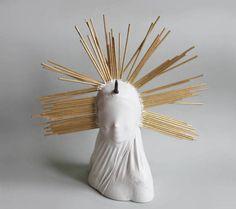 Madonna doll woman figure art sculpture horn by popRenaissance