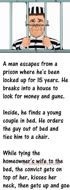 When a Escaped convict broke into a House Clean Funny Jokes, Funny Adult Memes, Short Jokes Funny, Funny Jokes For Adults, Good Jokes, Really Funny Memes, Funny Relatable Memes, Funny Stuff, Funny Quotes