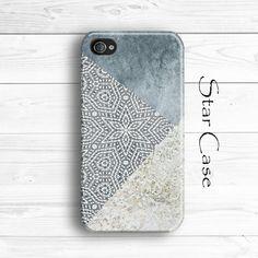 Gray iPhone 5 Case, iPhone 5s Case, iPhone 4 Case, iPhone4s Case, iPhone Case, Grey iPhone 5 Case, Granite iPhone 5 Case, Floral iPhone 5C Case by Star Case