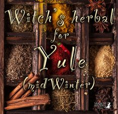 This is the Magical Herbal for Yule, the Winter Solstice one of the most magical days of the whole year. Yule is coming. Yule Crafts, Wiccan Crafts, Yule Traditions, Yule Celebration, Pagan Yule, Herbal Magic, Herbal Witch, Witch Herbs, Advent