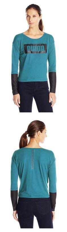 $21 - PUMA Women's Long Sleeve Top Colonial Blue #puma
