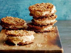 Oatmeal cookies are the perfect sandwich for softened ice cream.