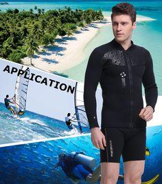 ebbd338e33 canoeing - DIVE  amp  SAIL Wetsuit Jacket Men Keep Warm 3mm Neoprene Zipper  up Wetsuit