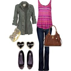 fall outfit, love the top