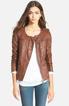 Nordstrom Hinge Quilted Leather Jacket