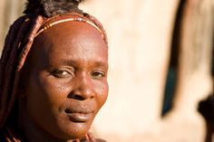 Portrait of a Himba woman.