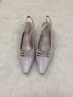 Women&39s Newport News Beige Suede Kitten Heels Square Toe Shoes