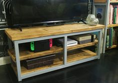 Scaffold Boards, Media Unit, Reclaimed Timber, Furniture Making, Industrial Style, Furniture Design, Danish, Colours, Consoles
