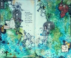 "My art journal page ""The Magic Of OZ""     My fantasy art journal page "" The Magic Of OZ ""...       The world   of  reality   has its   limits; but   the world of   imagination  ..."