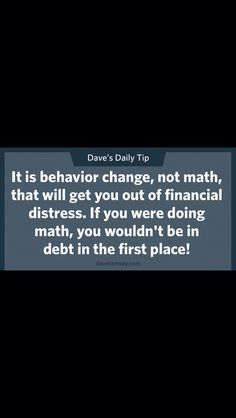 Behavior Change, Financial Success, Math, Math Resources, Mathematics